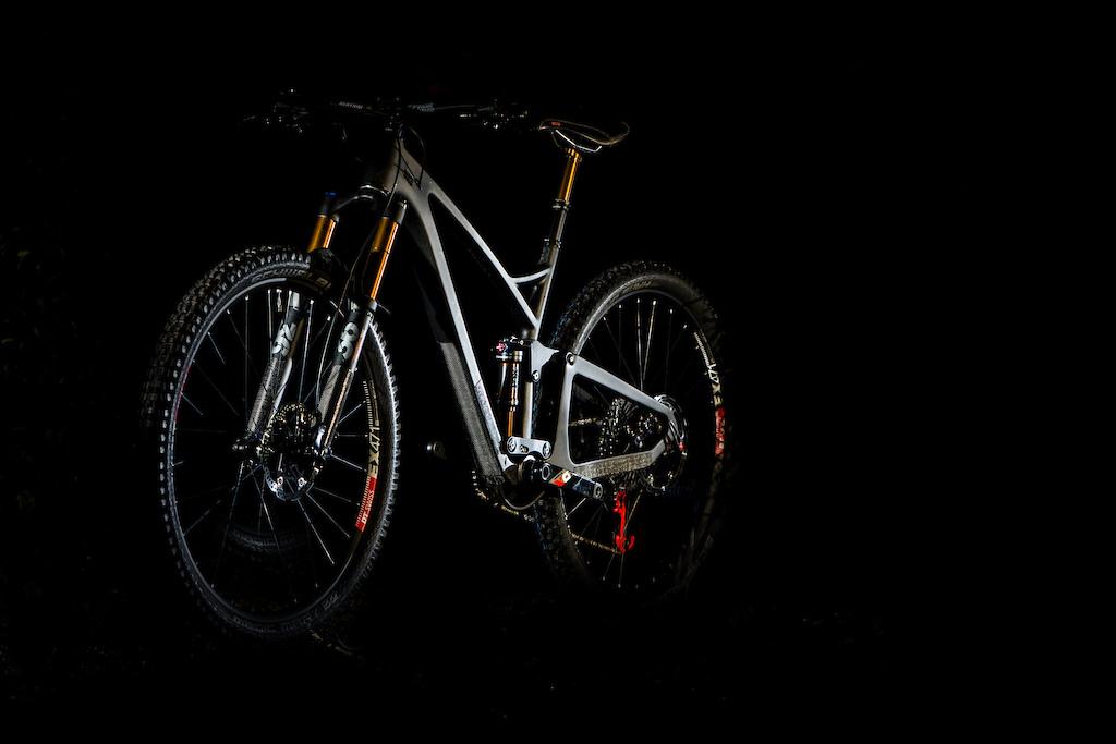 The new Pace carbon fibre full suspension bike.