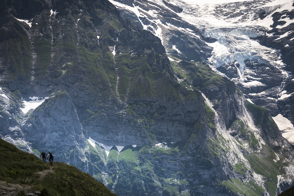 Riding in Grindelwald will make you feel small.