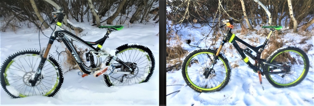 Exactly same trail ocation of the photo taken, same bike parts but the difference is the frame, Trek Session 88 (Left) and  Intense 951 Evo FRO (Right). Which one do you prefer?