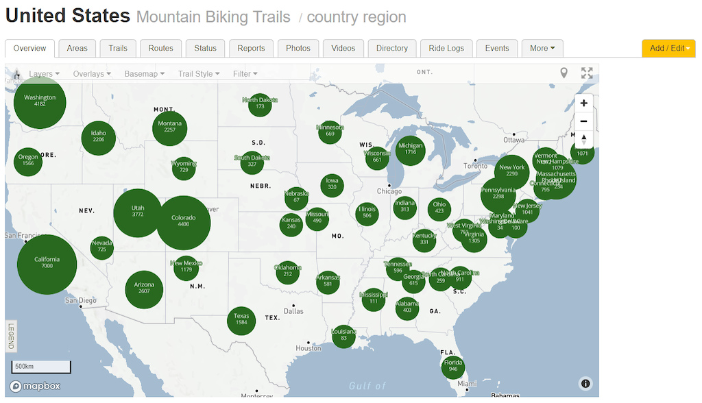 Trailforks Website Maps Switch to Mapbox