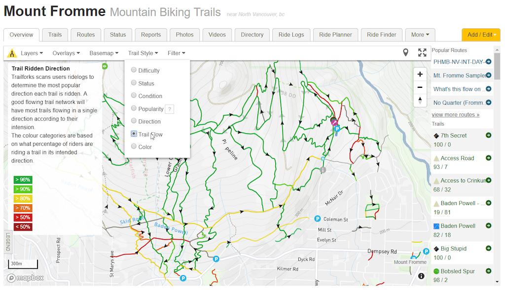 Trailforks Website Maps Switch to Mapbox by canadaka - Pinkbike