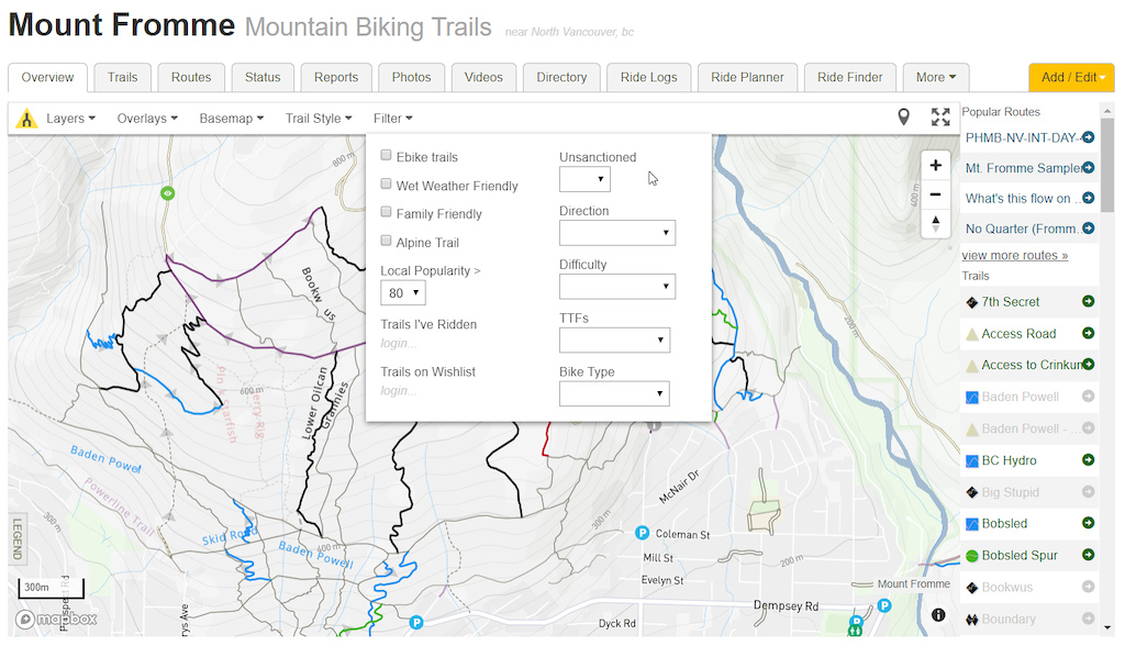 Trailforks Website Maps Switch to Mapbox