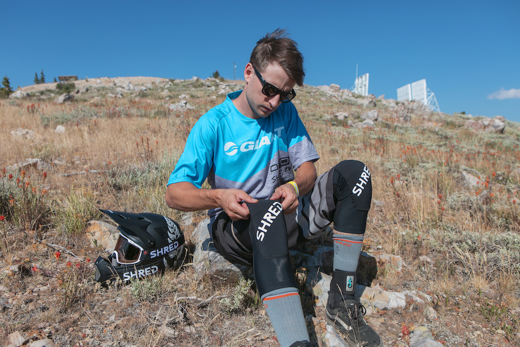 Reece Wallace trying out his new SHRED. kit in Deer Valley.