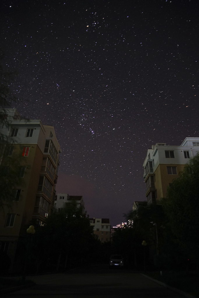 star sky took in autumn 2018