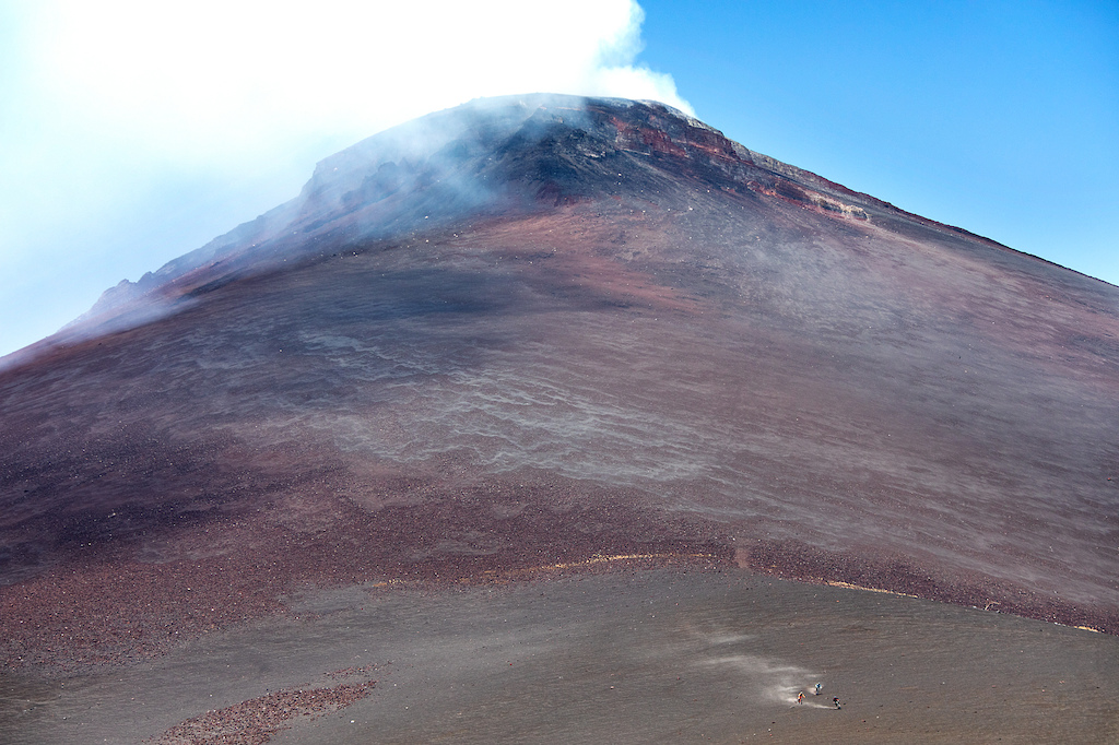 Mid run down Momotombo giving you a perspective for how massive this volcano is.