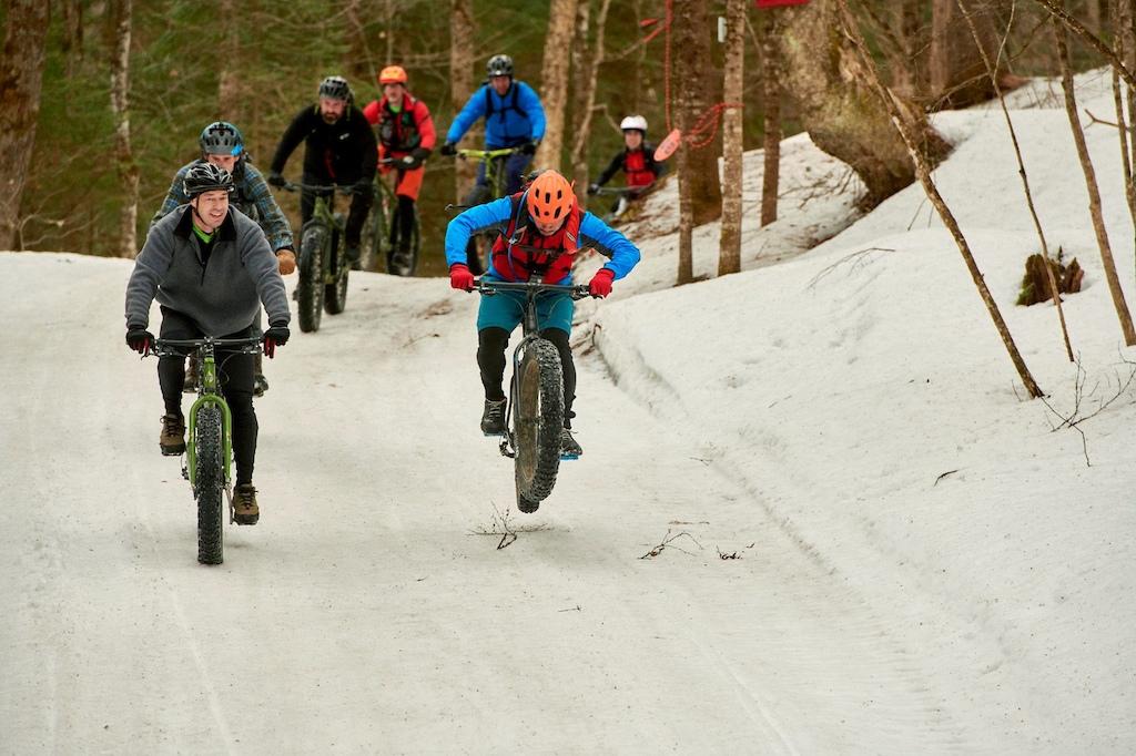 Winterbike on Kingdom Trails