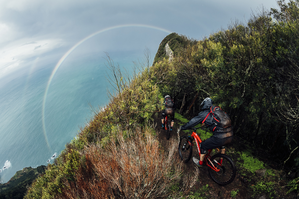 Double rainbow seen during the one of the best rides in our lifes!