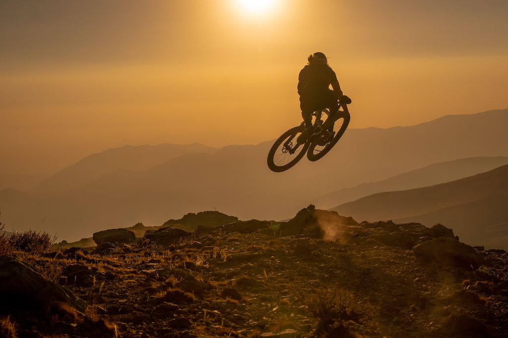 """After the first day of practice for the first round of the 2018 EWS, I was out taking pictures of the sunset and getting my stuff ready to take a selfie, When Cody showed up: """"-Hey Cody, do you mind doing your signature jump right there? -Dude it looks sketchy AF, the landing is a pile of rocks... - It's ok bro just go for it !!!"""" He went, we took one shot, done :) !! Thanks Cody"""