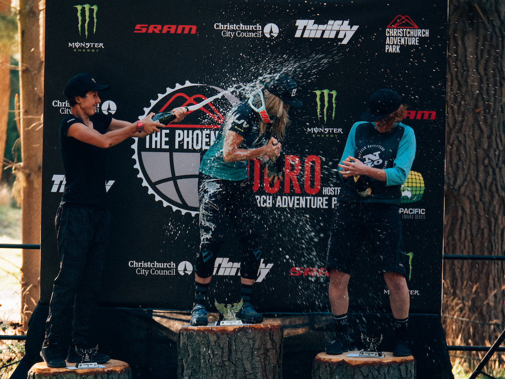 Joe Rae might have won the race but not they didn t win the champagne battle.