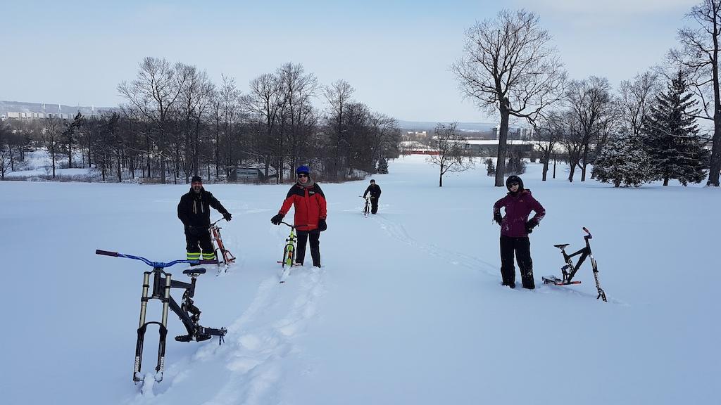 Skibiking....Snow much FUN!