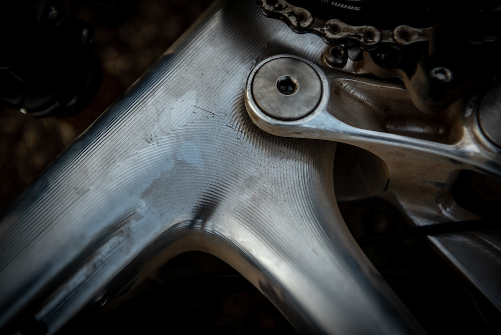 Close up detail of the Pole frame s craftsmanship.