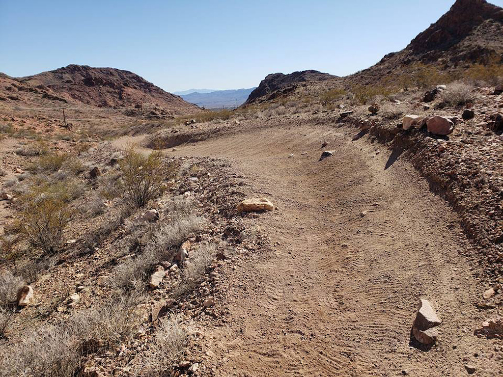 Section of stage 3 for the 2019 DVO Mob n Mojave Enduro presented by GT Bicycles