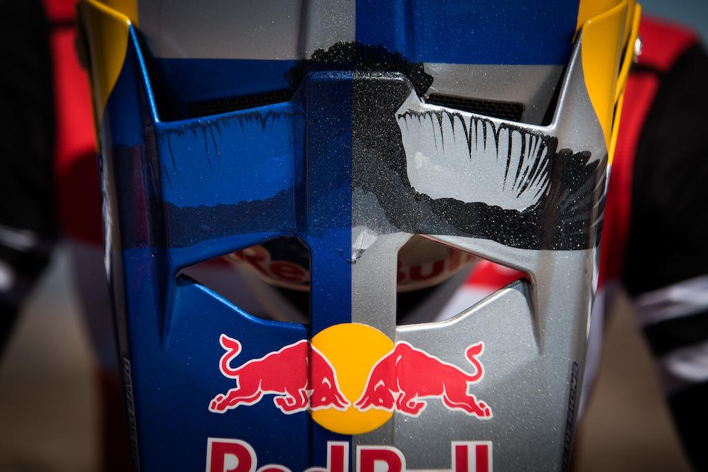 Pedro Burns new Red Bull helmet