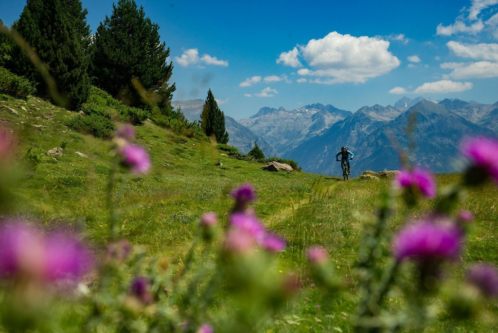 Mr. Basque MTB himself, Doug McDonald small amongst the mighty Pyrenees of the Tena Valley, a stone's throw away from the Spanish/French frontier.  Selected for POD by Sarah Moore on February 5th 2019.