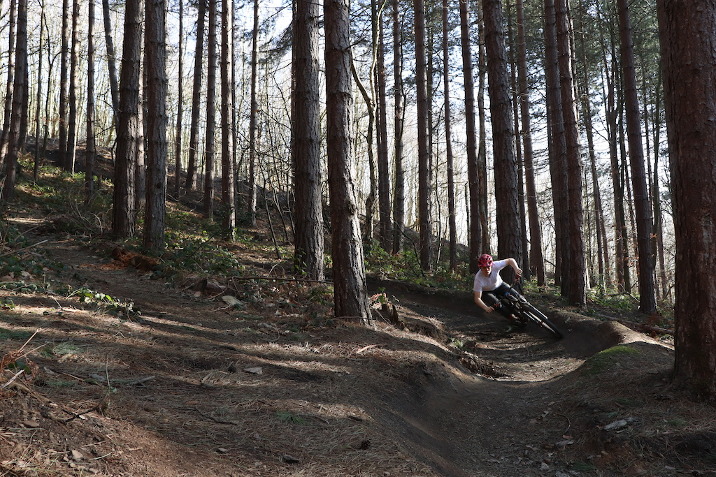 Taking advantage of the unusually nice weather here in Sheffield with a fun ride at Wharncliffe.