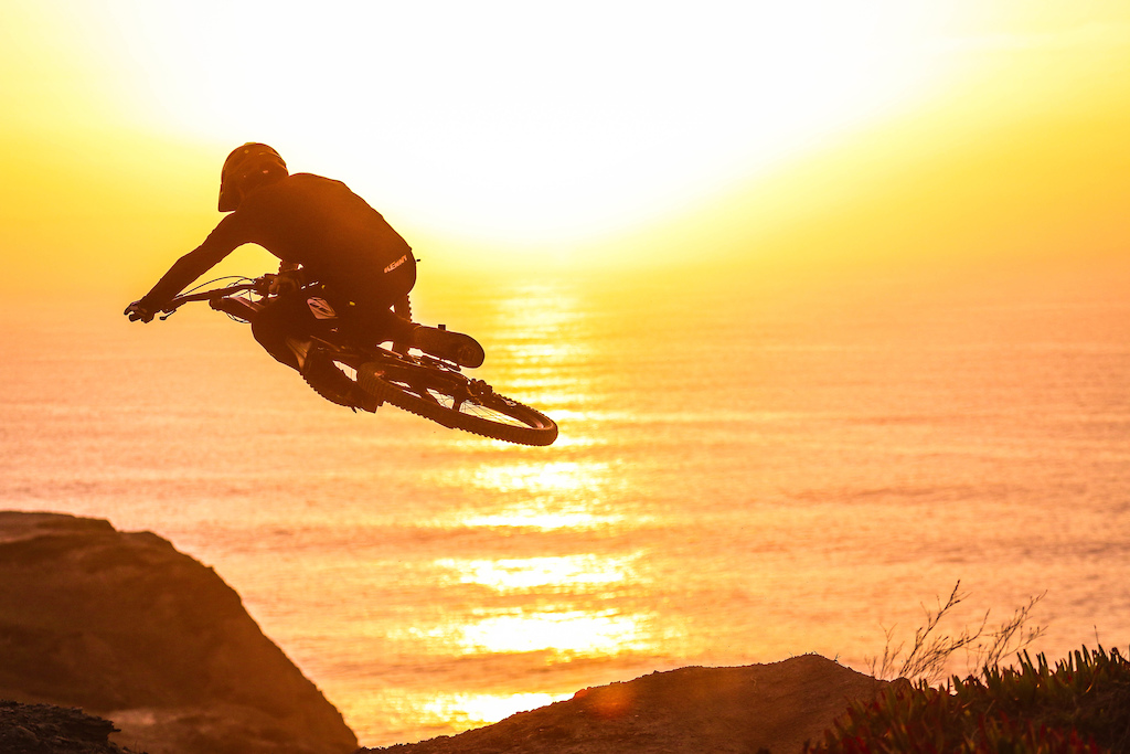 Sunset session for transition bikes with legendary rider Emanuel Pombo