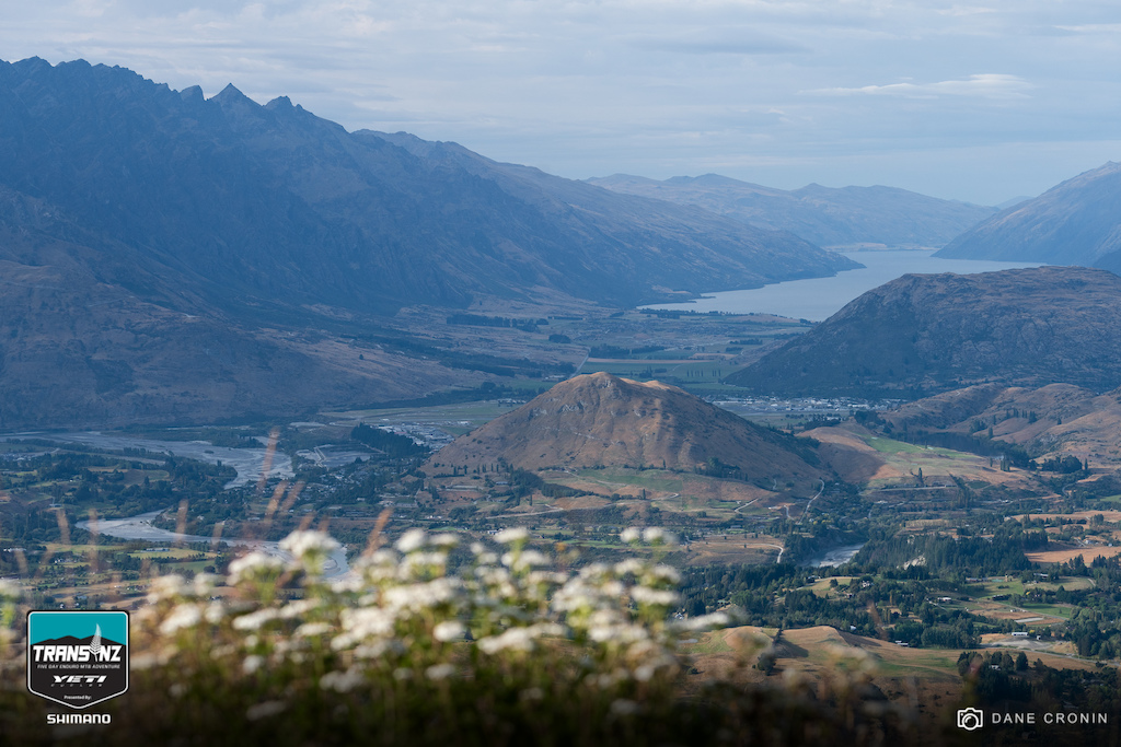 Overlooking Queentown Lake Wakatipu and Ferry Hill.
