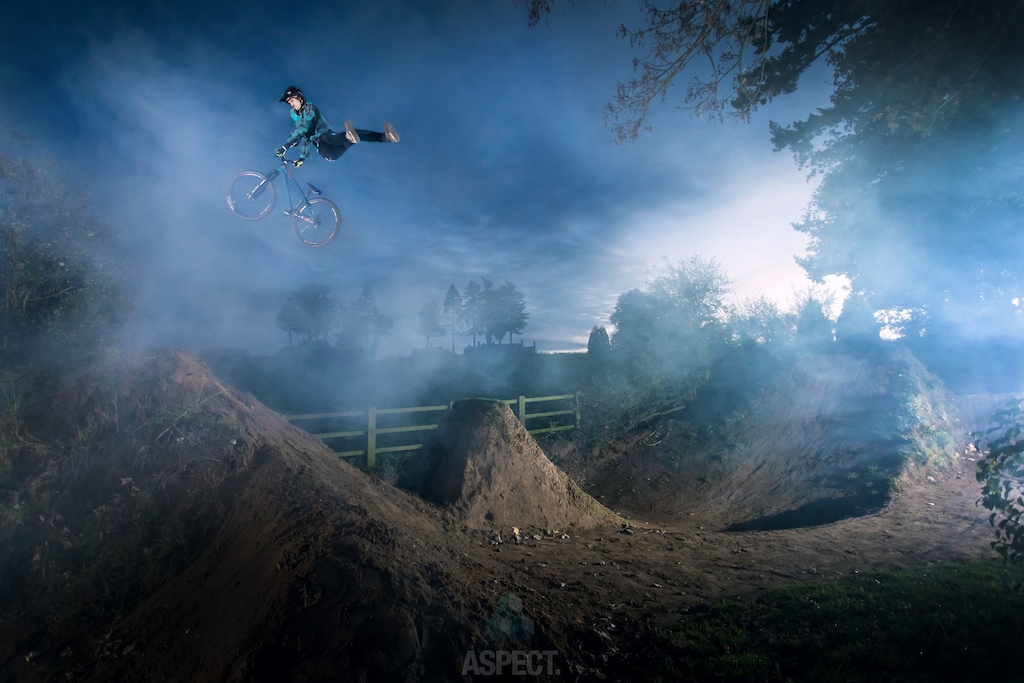 Sam riding some misty trails. Jacob Gibbins Apect Media