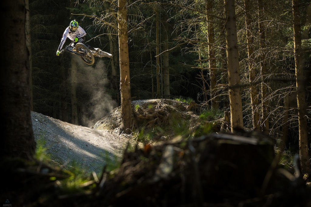 Brendog at revolution bike park while shooting deity. Jacob Gibbins Apect Media