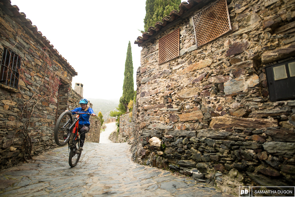 Back wheeling around the old town of Patones.