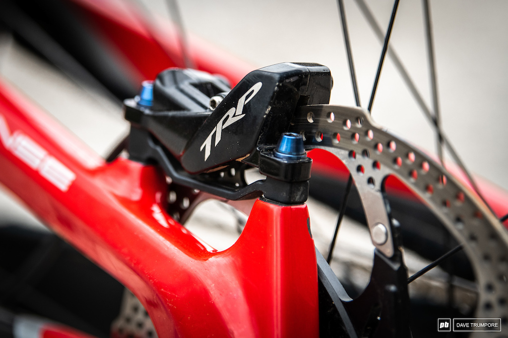 Neko Mulally - TRP calipers and ti bolts to save weight