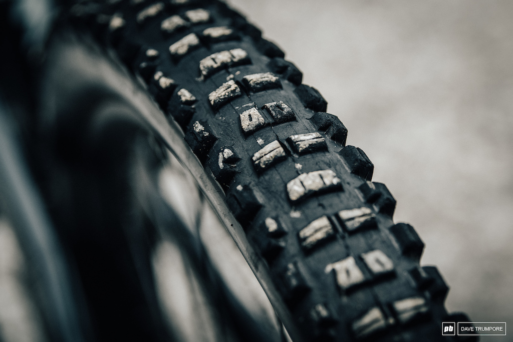 Vali Holl - with Maxxis Minion DHR in the rear