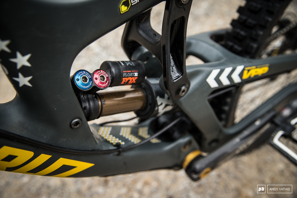 Fox has finally developed internals for the their already existing X2 rear shock that work well with the V10 s design.