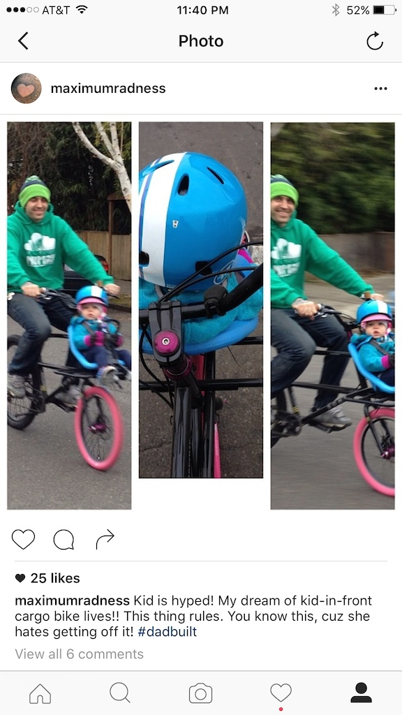 ellie had a pretty good start on two wheels