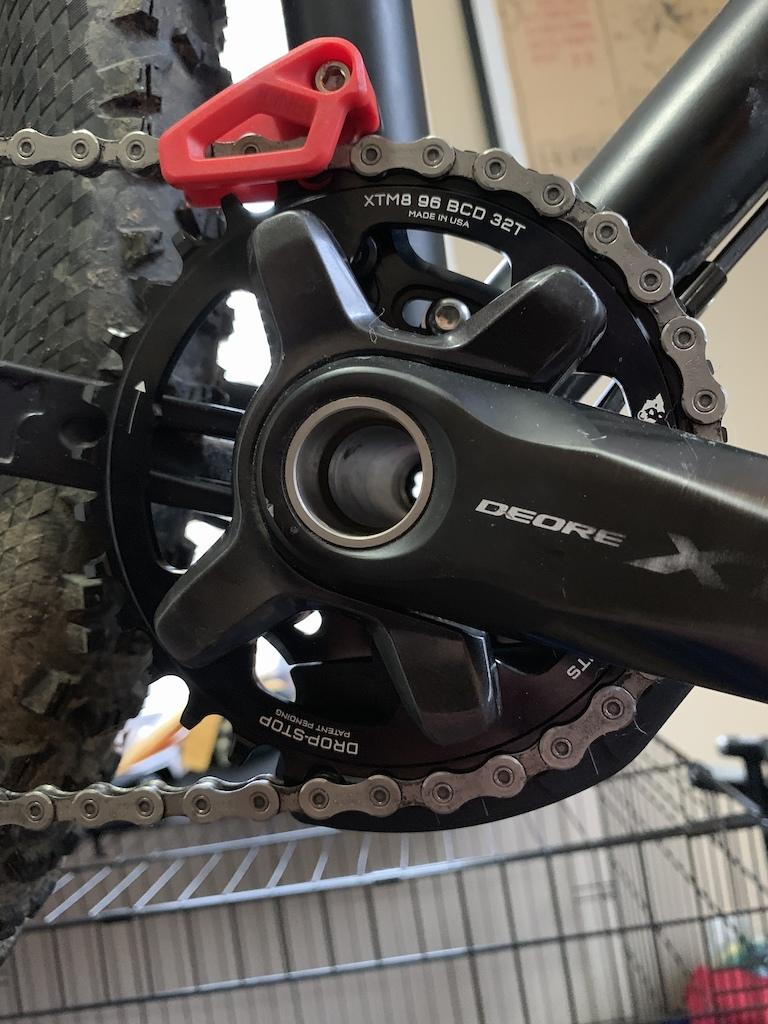Upgraded to a Wolftooth drop stop chainring and added a OneUp Bash Guide