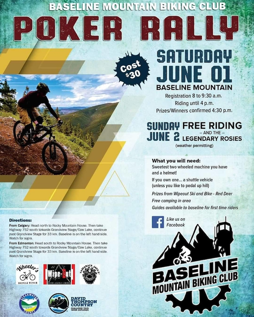 Baseline Poker Rally 2019 Saturday June 1st