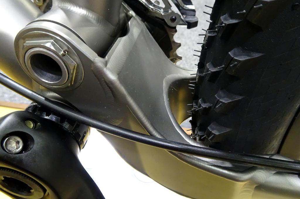Bingham Built titanium suspension bike