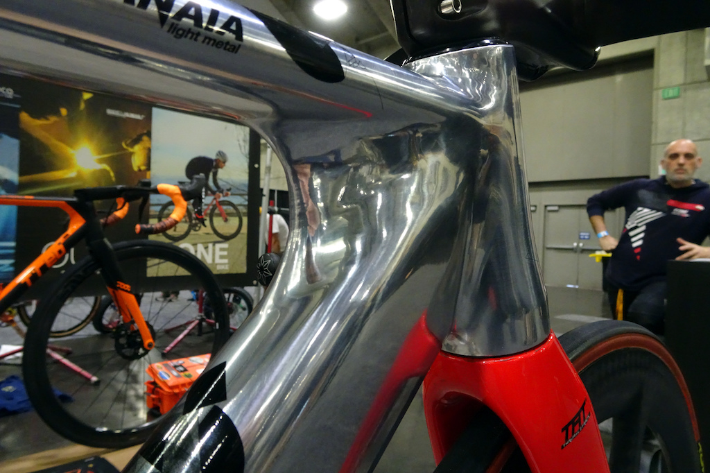 T-Red aluminum track racing bike.
