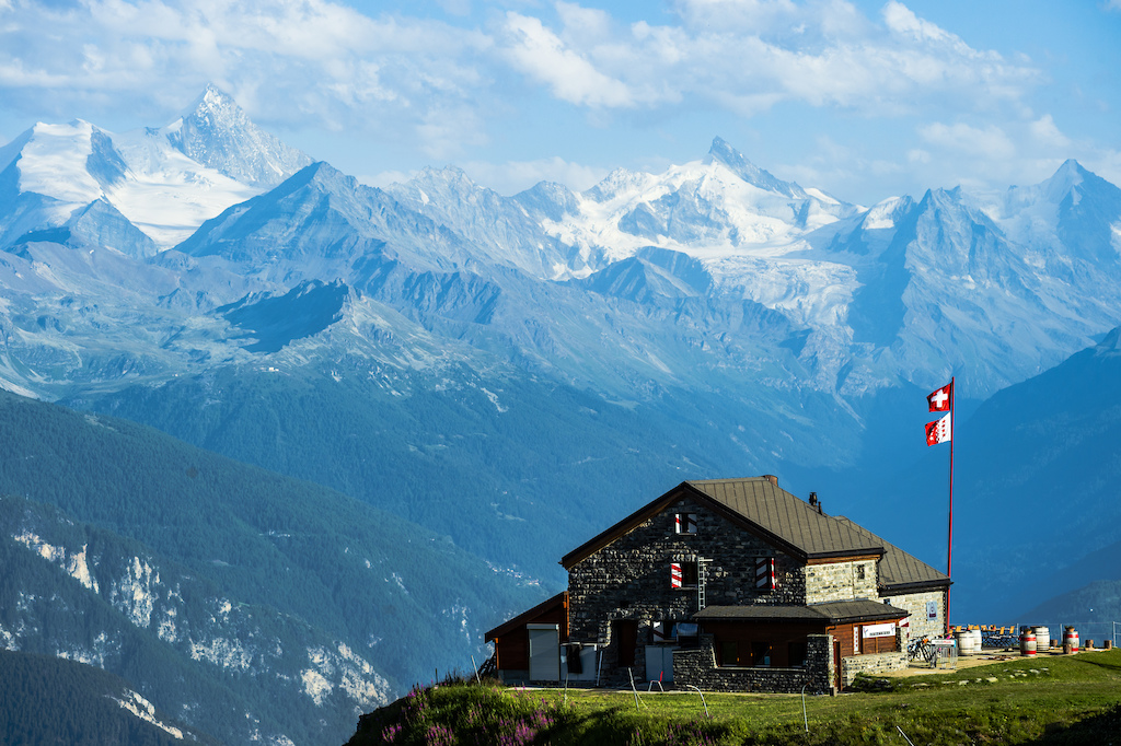 Traditionall swiss hut in Crans Montana Switzerland. Photo Mattias Fredriksson.