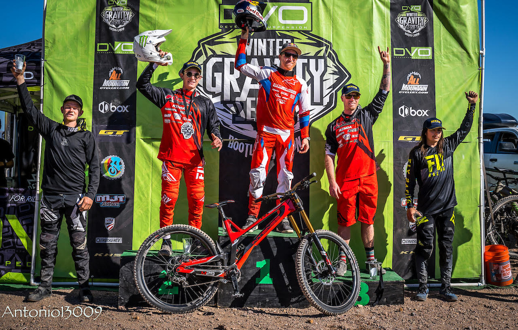 DVO Reaper Madness Enduro Presented by GT Bicycles March 2019. Aaron Gwin 1st Nikolas Nestoroff 2nd Logan Binggeli 3rd Liam Smillie 4th and Bryce Helbling 5th. Photo by Antonio Marroquin