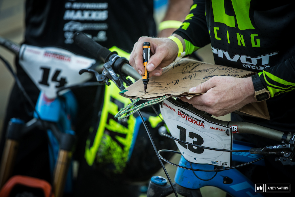 Autograph sessions and Crankworx definetly go hand in hand.