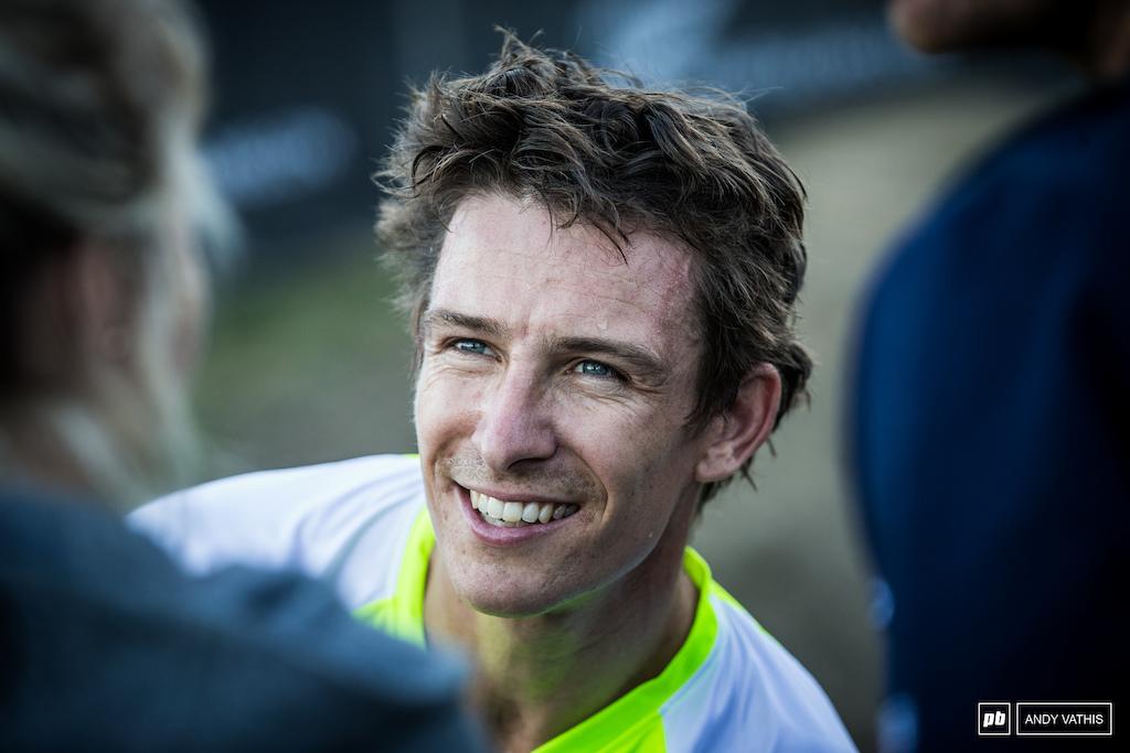 The 2018 King of Crankworx, Sam Blenkinsop, loving the racing here in Rotorua.