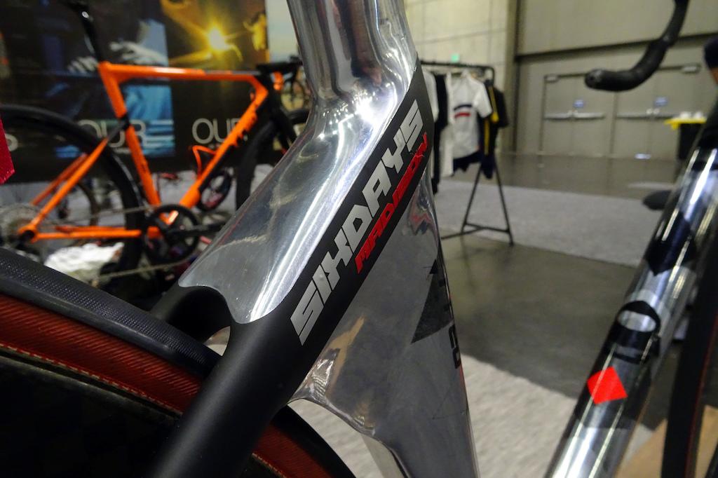 NAHBS 2019 T RED 6 Day Madison bike welded aluminum.