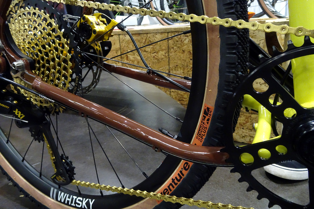 NAHBS 2019 Dropped chainstay ensures a silent running drivetrain.