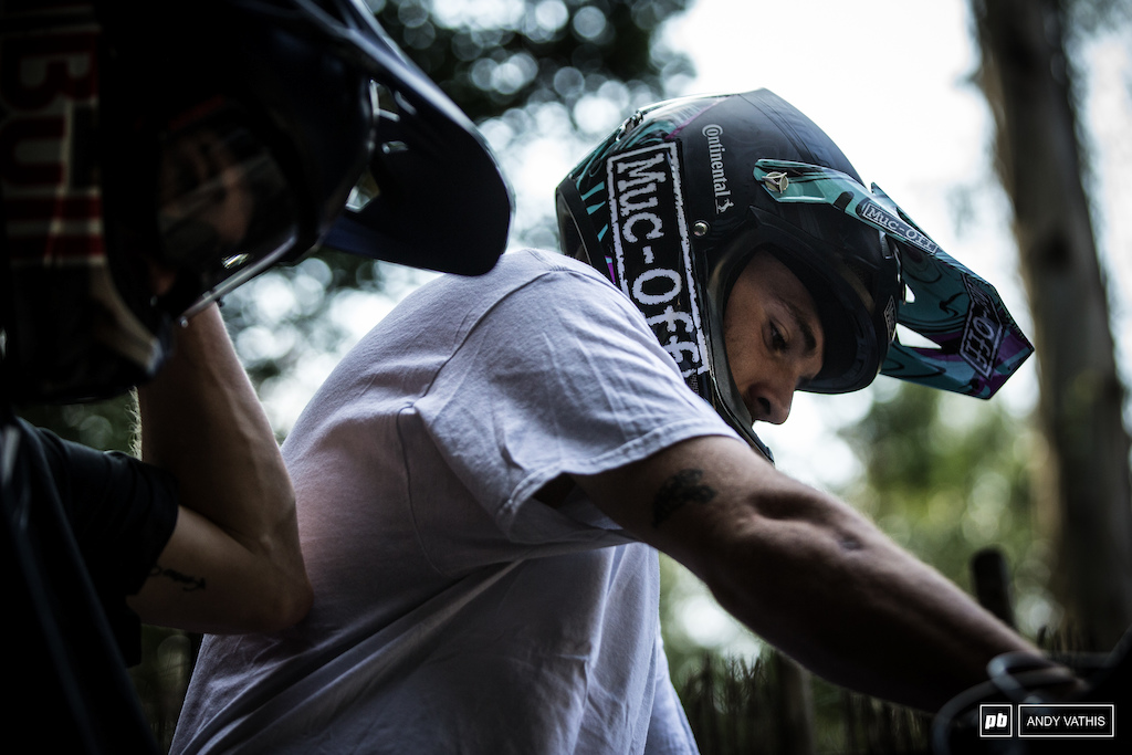 Tomas Lemoine has kept busy for most of the week with other Crankworx events. One more to go.