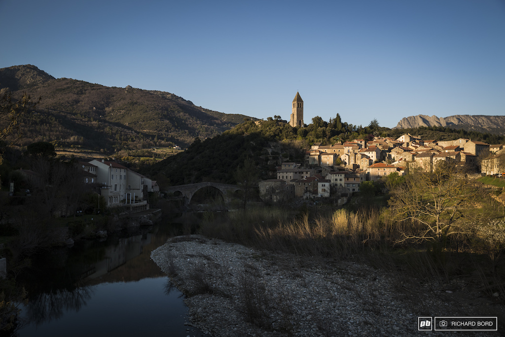 Minutes before the sun set a classic postcard of Olargues where the Jaur river is passing.