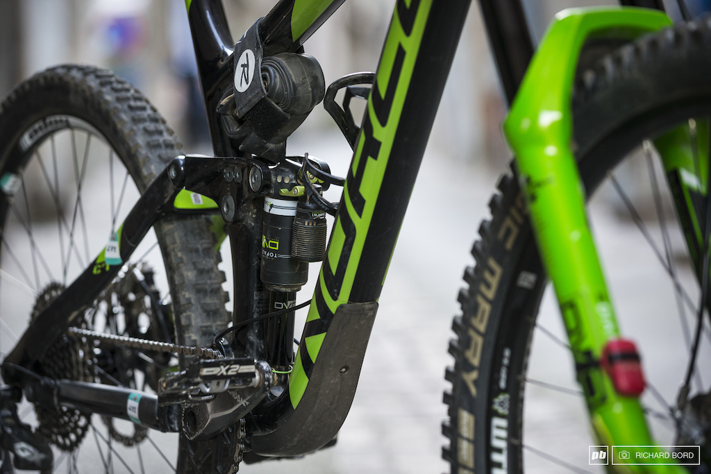 This Norco is full DVO equiped with a Topaz in the rear and a Dimond on the front.