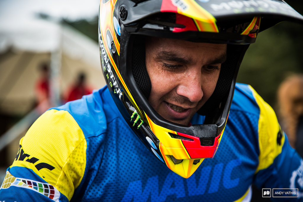 Sam Hill's day started off well until a mechanical slowed him down.