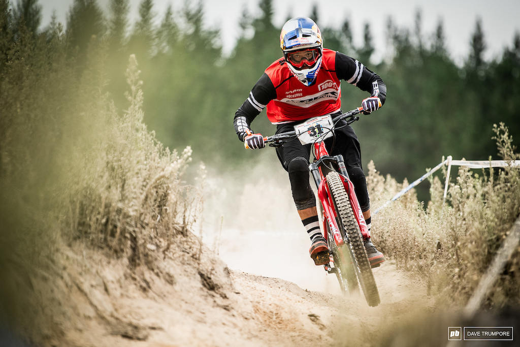 Chilean Pedro Burns right at home in the dust on Stage 3.