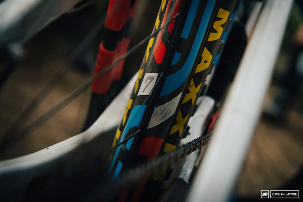 French themed red white and blue ENVE graphics for Thomas Lapeyrie