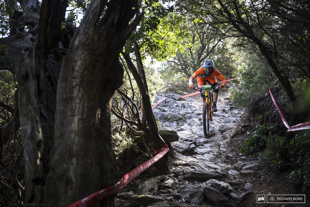 Junior Thomas Lempernesse trying to keep things smooth in the rocky Stage 2.