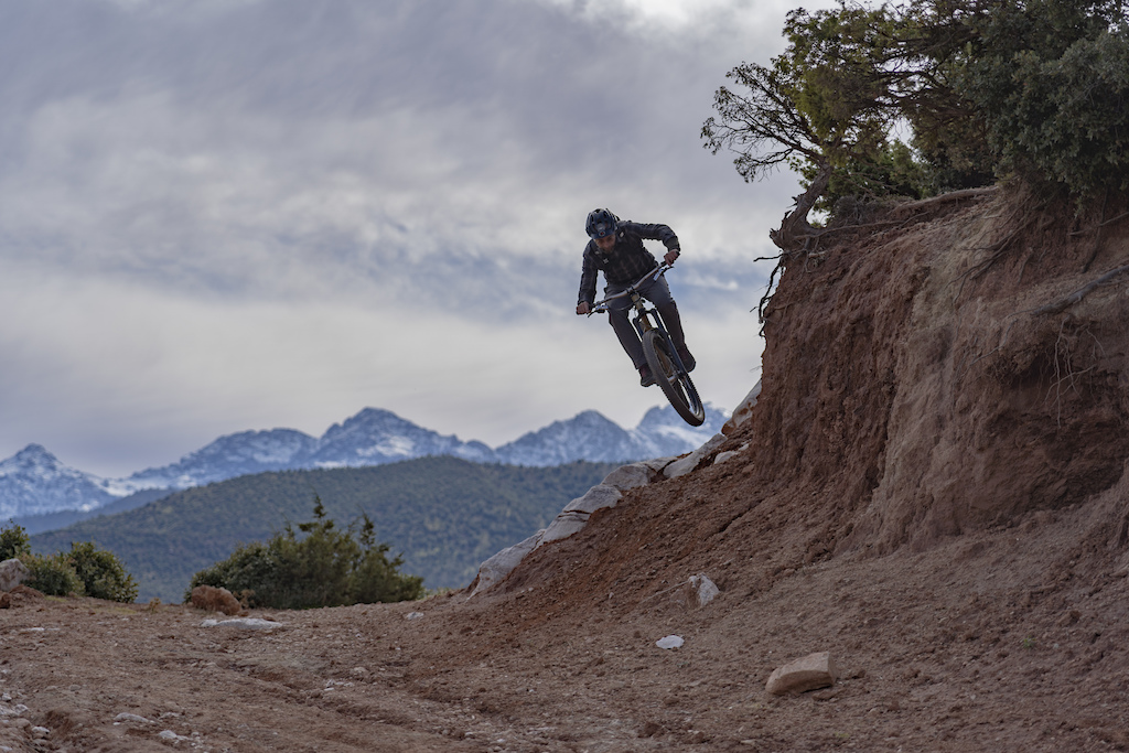 Rider Adrian Reed demonstrating how to ride a hardtail.