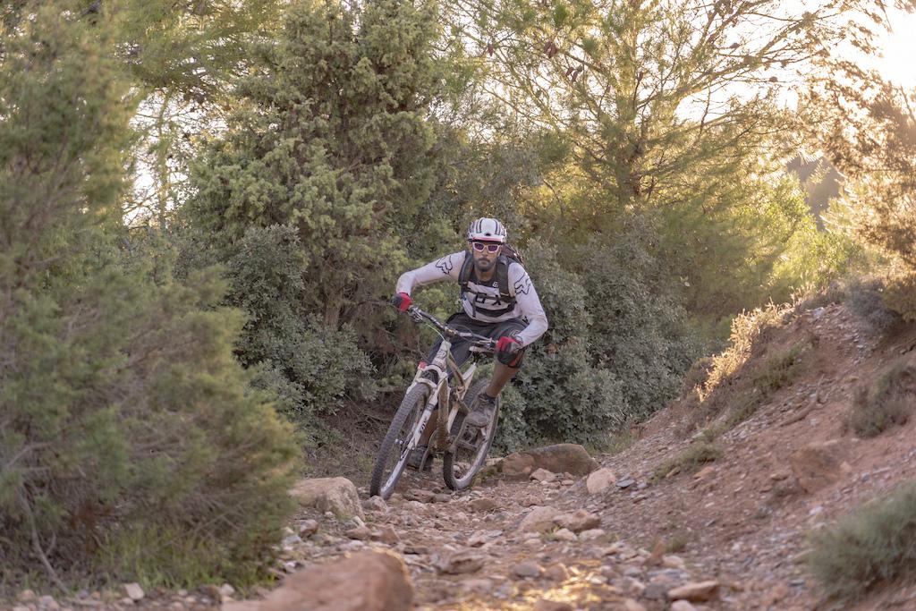 Rider Bari Khan dodging loose stones