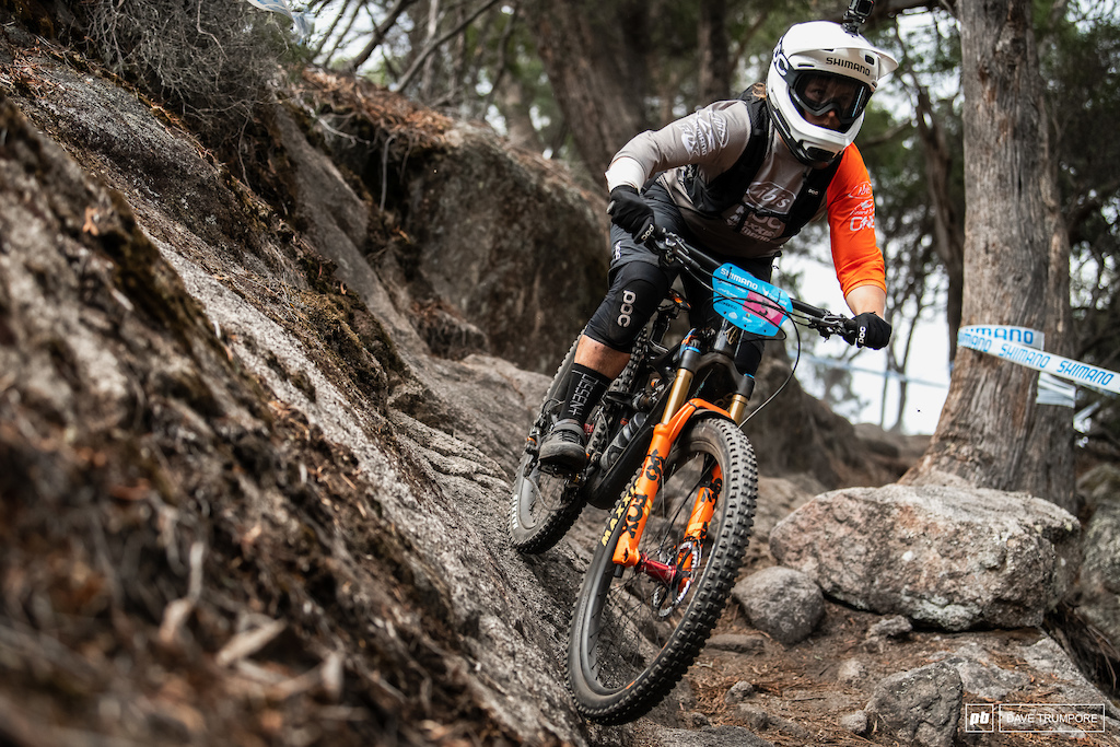 After hr first appearance on the podium last round, Bex Baraona is riding with confidence in Tasmania.