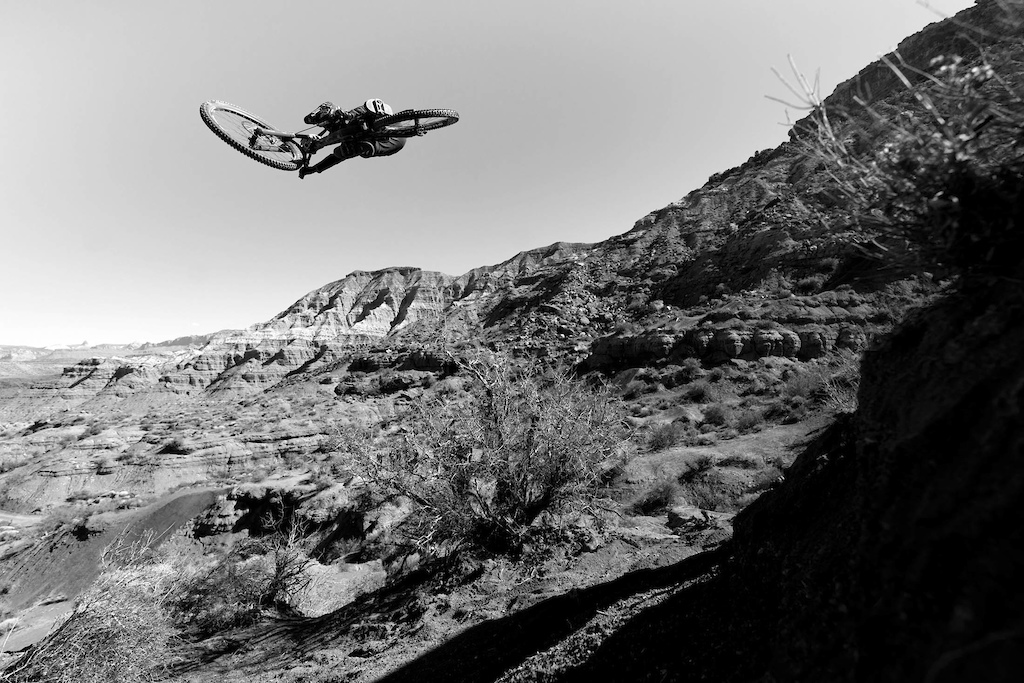 Aggy soars above the Rampage venue. Photo by Toby Cowley
