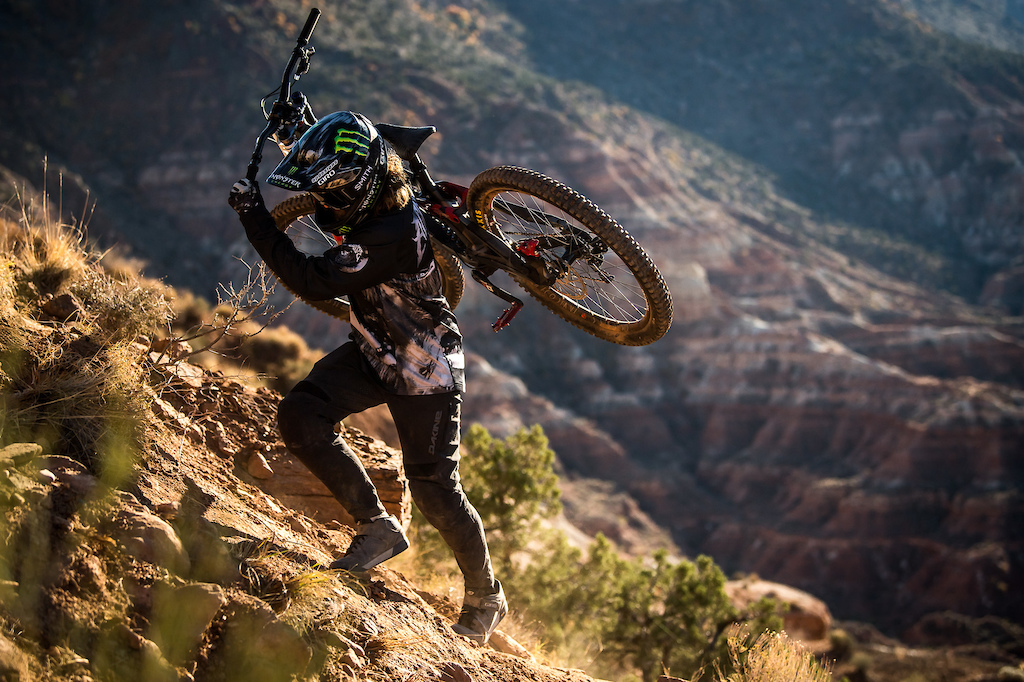 Team Aggy kit is tough for gnarly descents and breathable for hike-a-bikes. Photo by Nathan Hughes